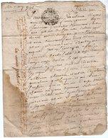 VP13.279 - Cachet Généralité De POITIERS - Acte De 1751 à Déchiffrer - Seals Of Generality