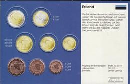 Estonie EST1- 3 2011 Stgl./unzirkuliert 2011 Kursmünze 1, 2 Et 5 Cent - Estonia