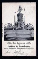 5 Pf. Privat Ganzsache Neptun-Brunnen Nürnberg - Gebraucht 1902 - Mythologie