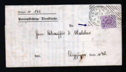 "1885 - Hoster-Stempel ""Berlin V 2"" - Dienstbrief Mit 5 Pf. Frankatur - Allemagne"