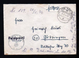 """1944 - Feldpostbrief Ab """"Stadt Des KDF-Wagens"""" (VW - Heute Wolfsburg) - Automobili"""