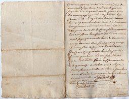 VP13.280 - CHAUMONT 1762 - Quittance - Manuscripts