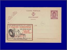 """Automobile Année: 1940 - BELGIQUE,PUBLIBEL 634 ,(N),65C. BRUN:""""Specialiste Pneu*"""" - Voitures"""