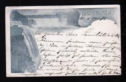 "1898 - 1 C. Ganzsache Mit Bild ""Niagara Falls"" Ab Niaraga Falls Nach Dessau - Nachgebühr - Protection De L'environnement & Climat"