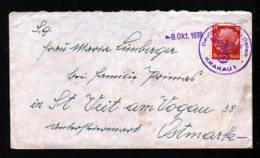 GENERALGOUVERNEMENT - 1939 - 12 Pf. DR Auf Brief Mit Aufgabestempel Krakau - Nach Österreich - Occupation 1938-45