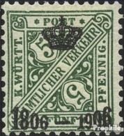 Württemberg D219 Favor Dévaluation Oblitéré 1906 Numéros Dans Signs - Wuerttemberg