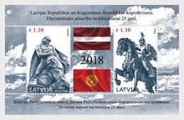 Letland / Latvia - Postfris / MNH - Sheet Joint-Issue Met Kirgizië 2018 - Letland