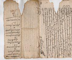 VP13.281 - Cachet Généralité De LIMOGES - Acte De 1743 - Quittance - RUELLE SUR TOUVRE à Déchiffrer - Seals Of Generality