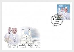 Letland / Latvia - Postfris / MNH - FDC Bezoek Paus Franciscus 2018 - Letland
