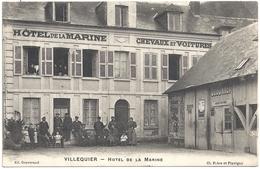 76 Villequier Hötel De La Marine Chevaux Et Voitures (animation) - Villequier
