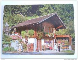 Cpsm Suisse Alter Speicher Im Berner Oberland Mit Trachtengruppe Edt Deriaz Circulée 1953 - BE Berne