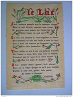 Cpsm Poème Gedicht Le Lac De Lamartine Edit Roussel - Schone Kunsten
