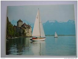 Cpsm Suisse  Chillon Lac Leman Voilier Zeilbootje Edit Stehli - VD Vaud