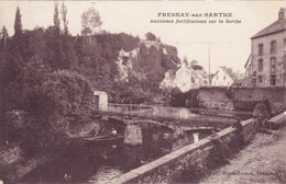 FRESNAY-SUR-SARTHE – Anciennes Fortifications Sur La Sarthe Circulée Timbrée - Autres Communes