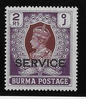 Birmanie Service N°24 - Neuf * Avec Charnière - TB - Burma (...-1947)