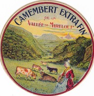 ETIQUETTE FROMAGE  CAMEMBERT -  EXTRA FIN DE LA VALLEE DE MIRELOUP -  Fab EN BRETAGNE - Cheese