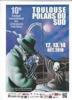 Affichette MUNOZ José Festival Littératures Policières Toulouse 2018 (Alack Sinner) - Affiches & Offsets