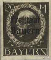 Bavière 170B Neuf Avec Gomme Originale 1920 King Ludwig Avec Surcharge - Bayern