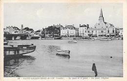 Cpa 85 Saint Gilles Croix De Vie , Le Quai Et Le Pont , écrite - Saint Gilles Croix De Vie