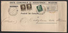 ITALY ITALIA ITALIEN 1941. Postal History Envelope Use By The Municipality MODENA FERROVIA CASTIGLIONE STIVIERE - Italia