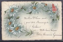 CPA Bonne Année Fleurs Marguerites Réf 1766 - Nouvel An