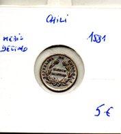 Chili. Medio Decimo 1881 - Chili