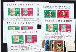TIMBRE. .................PETITE PLAQUETTE SUISSE BLOC FEUILLET NABRA BERN 1065 NABAG 1959 - Blocs & Feuillets