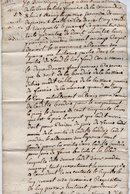 VP13.283 - Acte De 1751 Concernant Le Fermier De La Commanderie De Saint - Remy à VERRUYES à Déchiffrer - Manuscripts