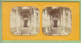 Palais Des Tuileries Avant 1870 : Escalier D'Honneur. Paris. Photo Stéréoscopique . 2 Scans. - Stereoscopic