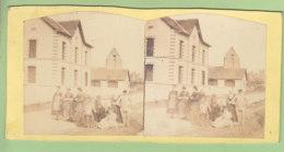 SAINT LEONARD EN BEAUCE Vers 1860 - 1870. Photo Stéréoscopique . 2 Scans. - Photos Stéréoscopiques