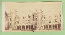 BLOIS Vers 1860-1870, Château Vue Intérieure Façade Louis XII . Photo Stéréoscopique . 2 Scans. - Photos Stéréoscopiques