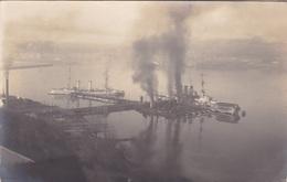 Alte Ansichtskarte Von Kriegsschiffen Vor Mürwik - Guerre
