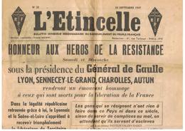 L`ETINCELLE , BULLETIN HEBDOMADAIRE  N 22 Du RASSEMBLEMENT Du PEUPLE FRANCAIS , Parti Crée Par Charles DE GAULLE - Livres, BD, Revues