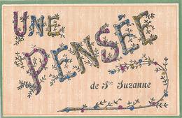 SAINTE SUZANNE - UNE PENSEE DE STE SUZANNE (AVEC PAILLETTES) - Sainte Suzanne