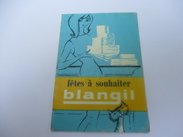 Calendrier De Poche à 3 Volets/Fêtes à Souhaiter/ BLANGIL/Hydrophilisé/Vers 1960  CAL418 - Autres