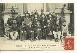 10 - TROYES / LE SECOURS IMMEDIAT DES POSTES ET TELEGRAPHES - SOUVENIR DE LA FETE MUTUALISTE Du 23 JUIN 1907 - Troyes