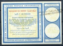 MAROC / MOROCCO Type XX 1,00 DIRHAM International Reply Coupon Reponse Antwortschein IAS IRC O CASABLANCA - Marokko (1956-...)