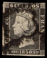 España 1850. Edifil 1A - Plancha II - Matasello Araña - Isabel II - Usados
