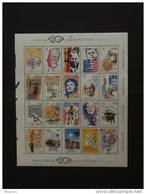 België Belgique 1999 Kuifje Tintin Eddy Merckx Kennedy Gandhi Guevara Mandela Piaf Beatles Etc. Blok BF 83 2858-2877 MNH - Libretti 1962-....