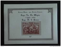 België Belgique 1964 5e Cent. Mort Peintre Rogier Van Der Weyden Descente De Croix Yv COB Blok Bkic BF 37 MNH ** - Blokken 1962-....