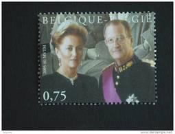 België Belgique 2005 Dynastie Roi Koning Albert II Koningin Reine Paola 3356 Yv 3342 Timbre Du BF 118 MNH ** - Belgique