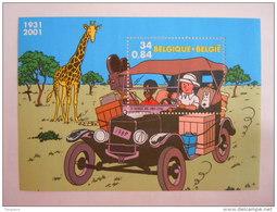 België Belgique 2001 Kuifje In Afrika Tintin Au Congo Hergé 3049 Bloc BL93 Yv 88 MNH ** - Blocs 1962-....