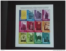 België Belgique Belgium 1998 Tourisme Monumentendagen Journées Européennes Du Patrioine  2763-2774 MNH ** BF 77 - Blocks & Sheetlets 1962-....