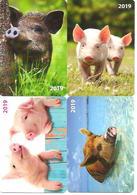 4 Packet Calendars  PIGS  2019  Estia - Calendars