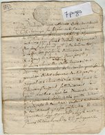 VP13.284 - Cachet Généralité De POITIERS - Acte De 1753 - Constitution De Rente Pour LOUIS ? Au Moulin De La Roche - Cachets Généralité
