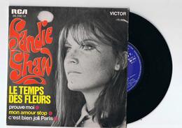 DISQUE SANDIE SHAW 45 T - LE TEMPS DES FLEURS , C`EST BIEN JOLI PARIS , PROUVE MOI , MON AMOUR STOP - Collector's Editions