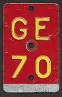 Velonummer Genf Genève GE 70 - Plaques D'immatriculation