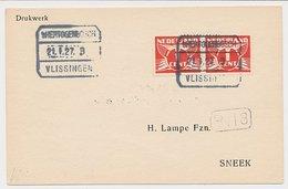 Treinblokstempel : S Hertogenbosch - Vlissingen B 1927 - Periode 1891-1948 (Wilhelmina)