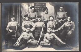 Carte Photo : Groupe De Militaires  :classe 1908.honneurs Aux Enfants Du G(ers?) (PPP15835) - Regiments
