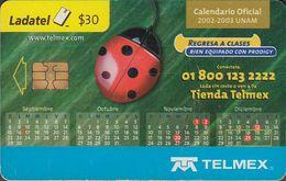 Mexico - MEX-TEL-P-0882 - Calendario Oficial Unam 2002 - 2003 - Ladybird - Mexico